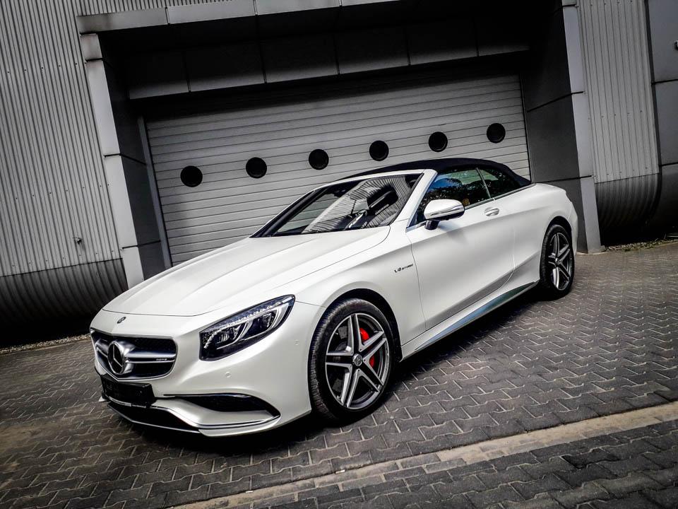 Mercedes C Cabrio biały mat