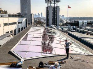 oklejanie świetlików dachowych